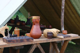 table with dishes of the Middle Ages - 219847298