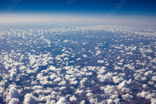 A beautiful sky scape of sun set from an airplain view - 219848001