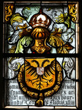 Stained Glass in Bruges - Double Headed Eagle - 219857477
