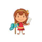 Girl mailbox letter