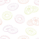 Donut graphic color seamless pattern background sketch illustration vector - 219904824