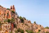 Rock with heart shaped hole, Corsica - 219922456