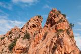 Red rocks in Calanques de Piana, Corsican - 219922477