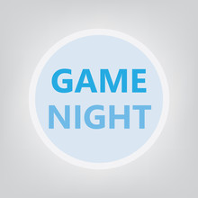 Game Night Concept  Illustration Sticker