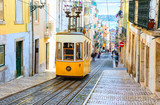 A view of the incline and Bica tram, Lisbon,  Portugal - 219933256