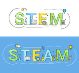 Stem and Steam Education Approaches Concept Vector Illustration - 219942024
