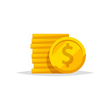 Coins vector isolated - 219942475