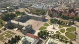 Aerial view of Schlossplatz. Palace square in Stuttgart - 219945491