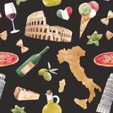 Watercolor italian pattern - 219948627