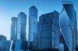 Leinwandbild Motiv Skyscrapers in Moscow City, Russia. International business center in the daytime