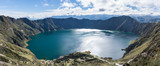 Panorama de la Lagune de Quilotoa, Équateur - 219960848