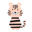 Tiger baby cute print set. Cool african animal