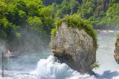 Fels im Rheinfall - 219982609