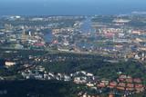 Polska, Gdańsk z lotu ptaka - widok z okna samolotu