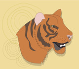 portrait of a tiger on a background