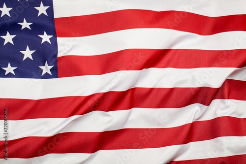 Leinwanddruck Bild USA flag