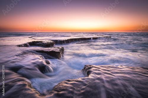 Fototapeta Beautiful beach sunset