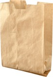 Open Brown Paper Bag - Isolated