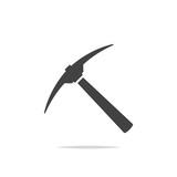 Pickaxe icon vector - 220042459