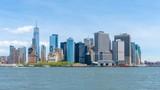 Timelapse video of Lower Manhattan skyline in daytime - 220044677