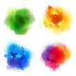4 colorful splashes