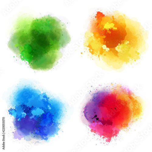 4 kolorowe plamy