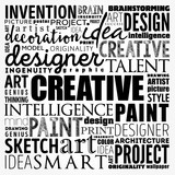 CREATIVE word cloud, creative business concept background - 220064095