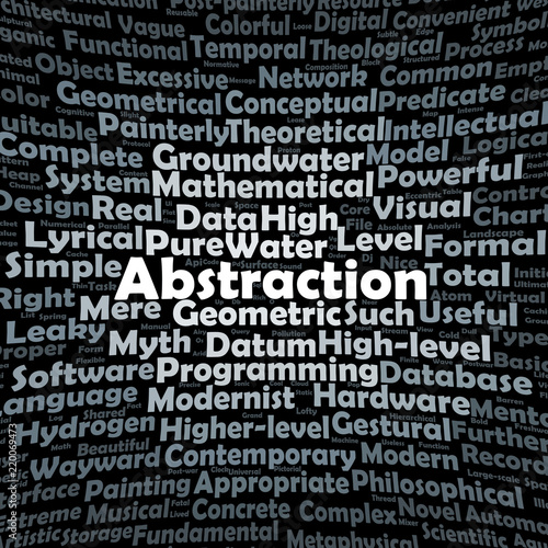 Abstraction word cloud - 220069473
