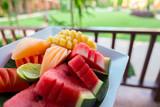 Fruit plate close up - 220071484
