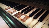 Old grunge piano closeup - 220101441