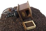 vintage hand coffee grinder. - 220107245