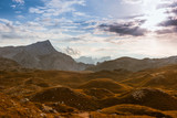 Scenic view of Italian Dolomites mountains