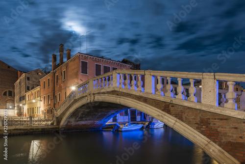 Venice cityscape by night