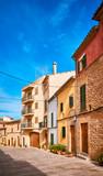 Empty street in Alcudia old town, Mallorca, Spain.