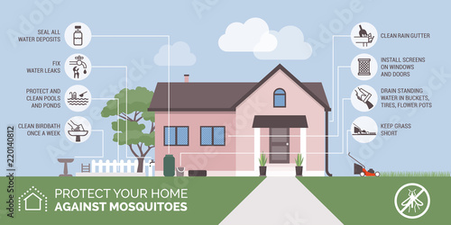 Mosquito bite prevention infographic - 220140812