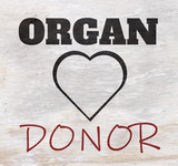 Organ donor design on wood grain texture - 220155467