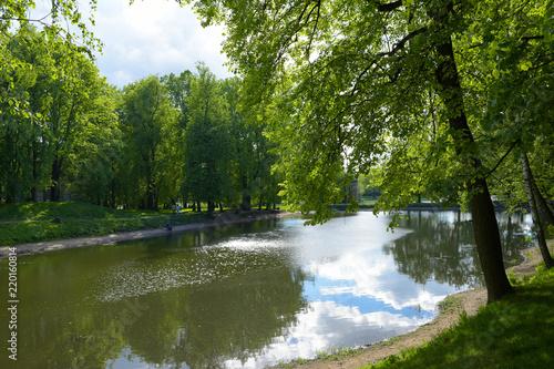 Mikhalkovo Park, Upper Mikhalkov pond, Moscow, Russia