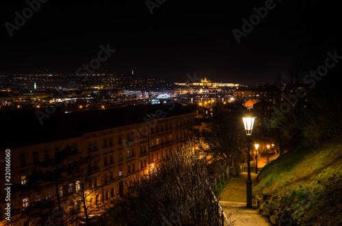Prague Nightscape, Psgue, Czech Republic