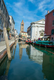 View of a pittoresc water channel in Venice Italy  - 220175652