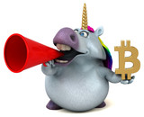 Fun unicorn - 3D Illustration - 220193070