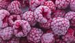 Leinwanddruck Bild - Frozen raspberries background