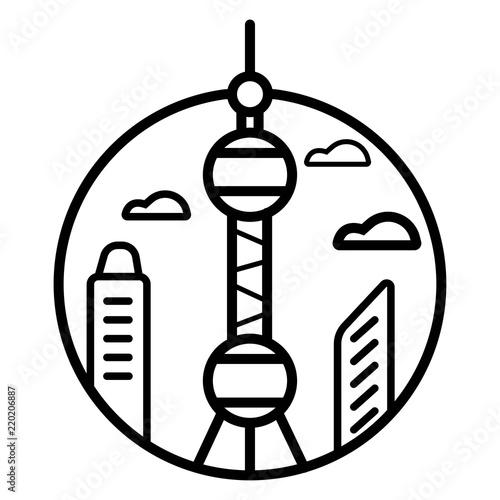 Toronto Cn Tower Icon Vector