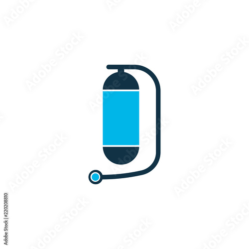 Oxygen Cylinder Icon Colored Symbol Premium Quality Isolated