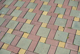 Paving slabs of colorful elements as a background - 220227610