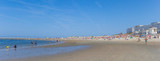 Panorama of people enjoying the beach on Borkum island, Germany - 220230651