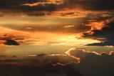 evening clouds in sky - 220237635