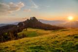 Summer sunset in Rarau Mountains