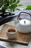 Hot Tea Set on Bamboo Mat - 220241076