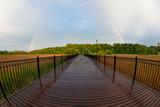 Fototapeta Rainbow - Tęcza Człuchów kładka Park Luizy © Dariusz