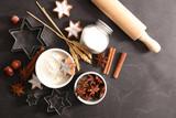 cooking christmas cookies - 220257667